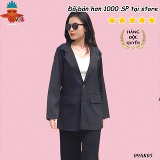 Áo khoác blazer vest đen 2 túi nấp THOCA HOUSE vải dày freesize phù hợp đi làm công sở, sự kiện, hội nghị thumbnail