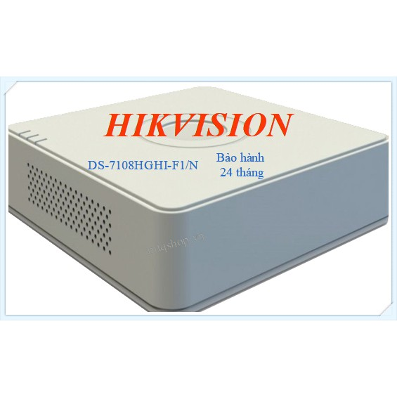 Đầu ghi 8 kênh Hikvision 7108HGHI chính hãng bảo hành 24 tháng