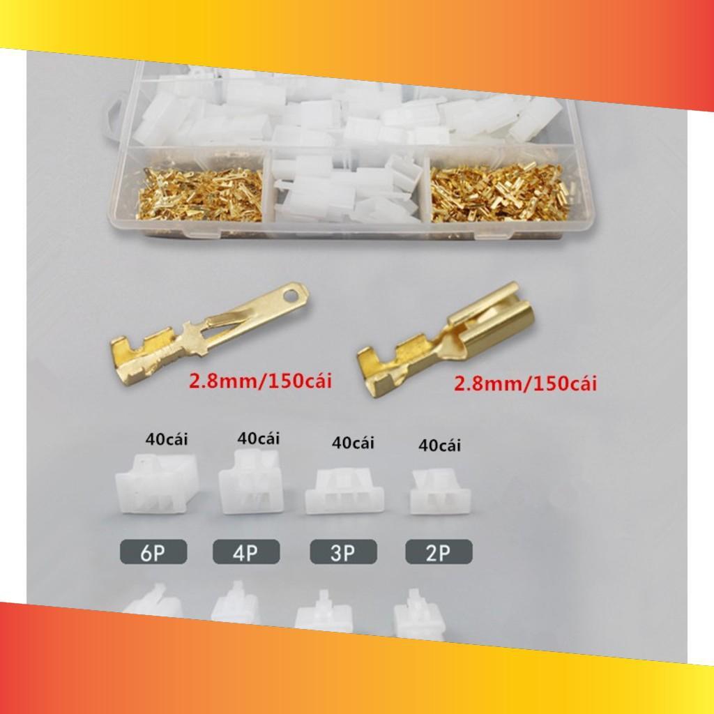 Bộ 380 đầu nối SM 2.8-2p 3p 4p 6p