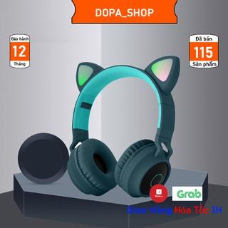 Tai nghe chụp tai bluetooth mèo dễ thương, âm bass cực đỉnh có mic âm thanh chơi game không bị delay - Bảo Hành 12 Tháng thumbnail