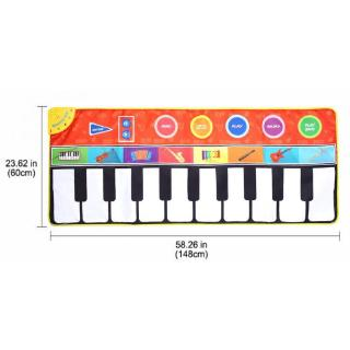 Havashop Multi-Functional Baby Crawling Play Mat Electric Music Blanket Game Carpet for Children