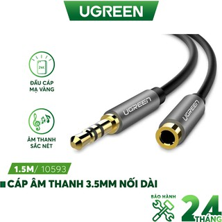 Dây AV nối dài 3.5mm đầu mạ vàng dài từ 0.5-2m UGREEN AV118