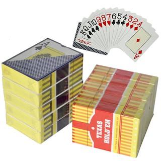 Bài Poker Texas Hold'em siêu bền, siêu đàn hồi, chống thấm nước.