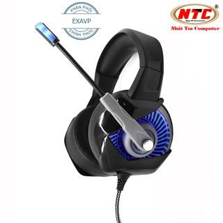 Tai nghe chụp tai chuyên game EXAVP K6 led đa màu - Âm thanh bass cực sâu (Bạc đen) thumbnail