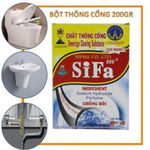 Bột Thông Cống Diệt Khuẩn 300gr Tẩy Trắng Cấp Tốc – chất tẩy khử mùi vệ sinh toilet