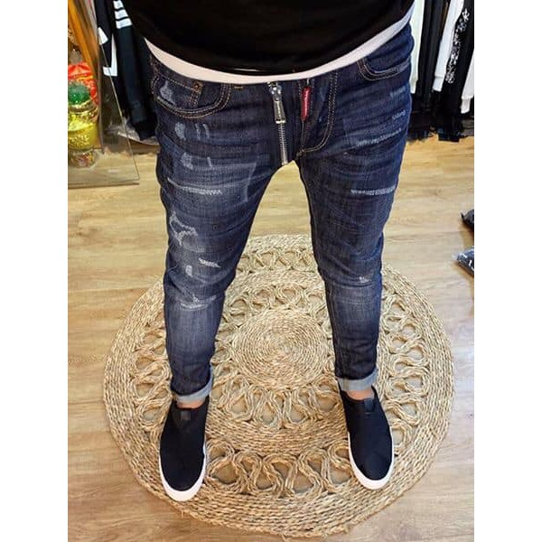 [ Thời trang cao cấp ] Quần Jean siêu cấp gảy xước DSQ