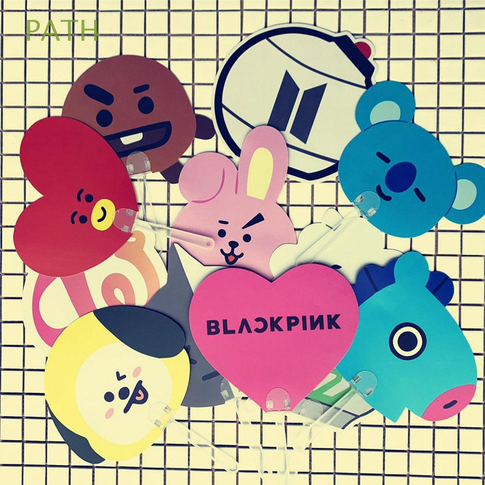 Twice KPOP PVC Blackpink Mini BT21 Hand Fan