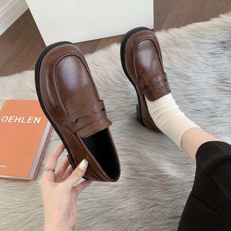 Giày Đồng Phục Thiết Kế Giản Dị Phong Cách Nhật Bản Thời Trang