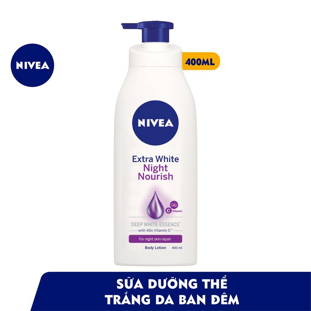Bộ đôi Sữa dưỡng thể dưỡng trắng da ngày & đêm NIVEA (Ngày 350ml & Đêm 400ml - 88311+8