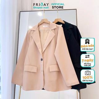 Áo blazer nữ khoác blazer dài tay phong cách hàn quốc freesize chất liệu tuyết mưa thích hợp thời tiết thu đông Friday thumbnail