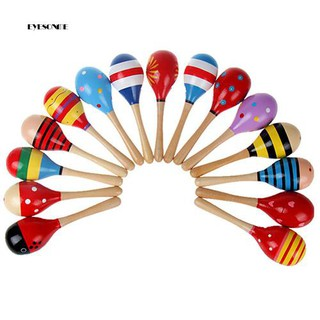 ♕New Cute Baby Kids Sound Music Gift Toddler Rattle Musical Wooden Colorful Toys
