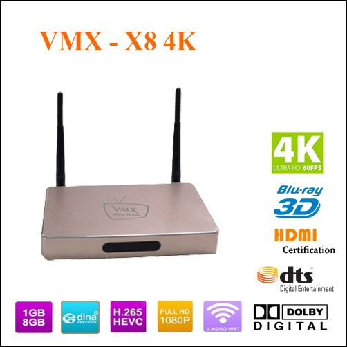 tivi box VMX X8- 4k