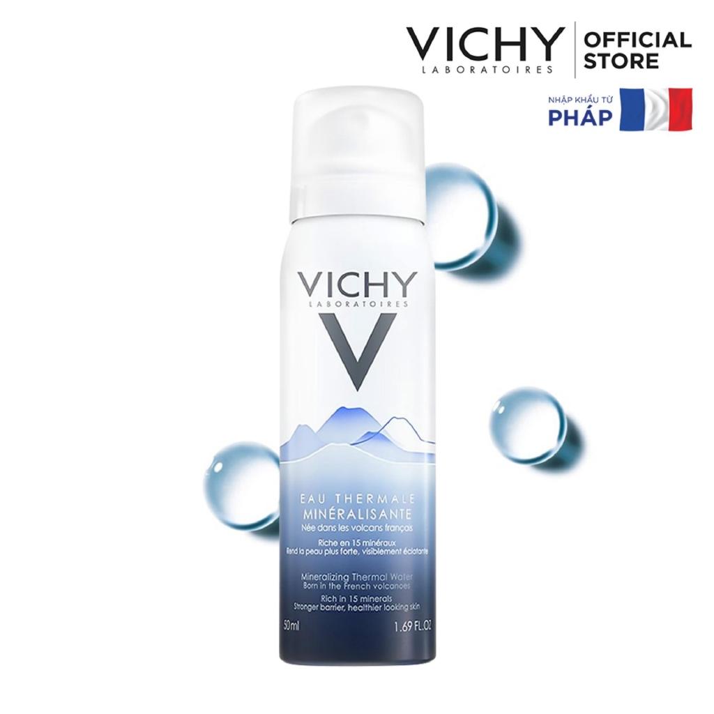 Xịt khoáng dưỡng da Vichy Mineralizing Thermal Water 50ml ( tặng set dùng thử )