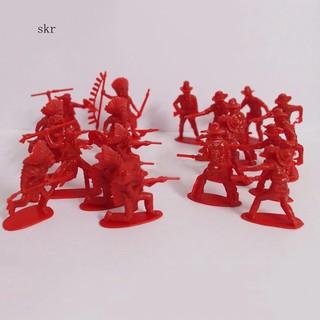 Túi 70 mô hình người da đỏ và cao bồi đồ chơi