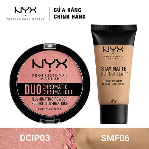 Bộ đôi Kem Nền Trang Điểm Mặt & Phấn bắt sáng NYX Professional Makeup (SMF06 + DCIP03) _ TUNX00040CB - 3467711 , 1307089466 , 322_1307089466 , 540000 , Bo-doi-Kem-Nen-Trang-Diem-Mat-Phan-bat-sang-NYX-Professional-Makeup-SMF06-DCIP03-_-TUNX00040CB-322_1307089466 , shopee.vn , Bộ đôi Kem Nền Trang Điểm Mặt & Phấn bắt sáng NYX Professional Makeup (SMF06