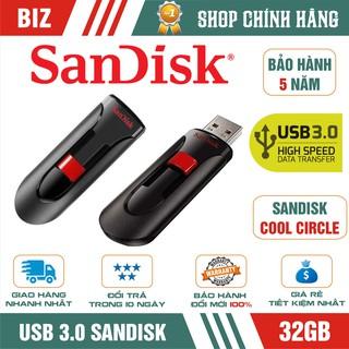 [Mã ELFLASH5 giảm 20K đơn 50K] USB 3.0 32GB/16GB Sandisk Cool Circle - Bảo hành 5 năm