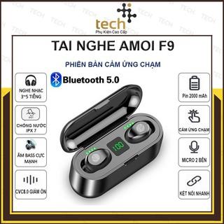 Tai Nghe Bluetooth Kiêm Sạc Dự Phòng AMOI F9 TWSTHÁNG5.0 9D BẢN QUỐC TẾ Cảm Ứng Chạm-Chống Nước-Chống Ồn - BẢO HÀNH 6 TH