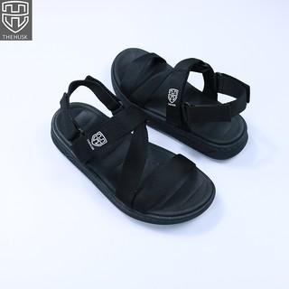 Giày Sandals Unisex TheHusk Quai Đen Đế Đen - TH2 thumbnail