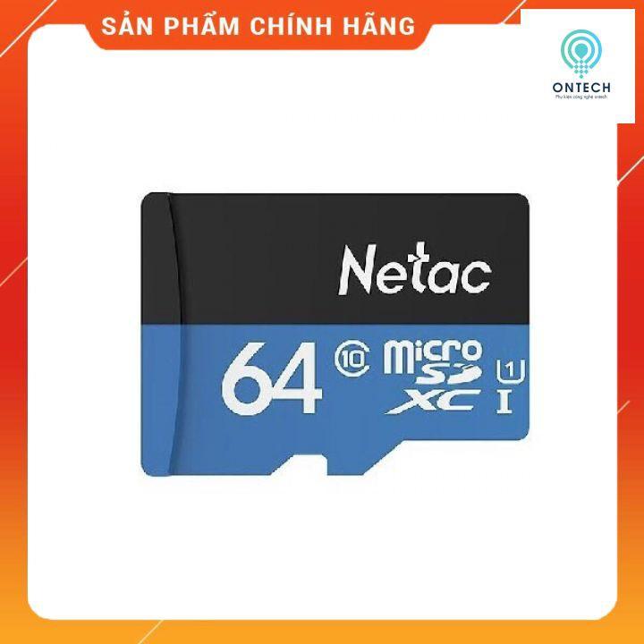 [Mã ELFLASH3 hoàn 10K xu đơn 20K] Thẻ nhớ Netac 64gb Chính hãng Bảo hành 5 năm
