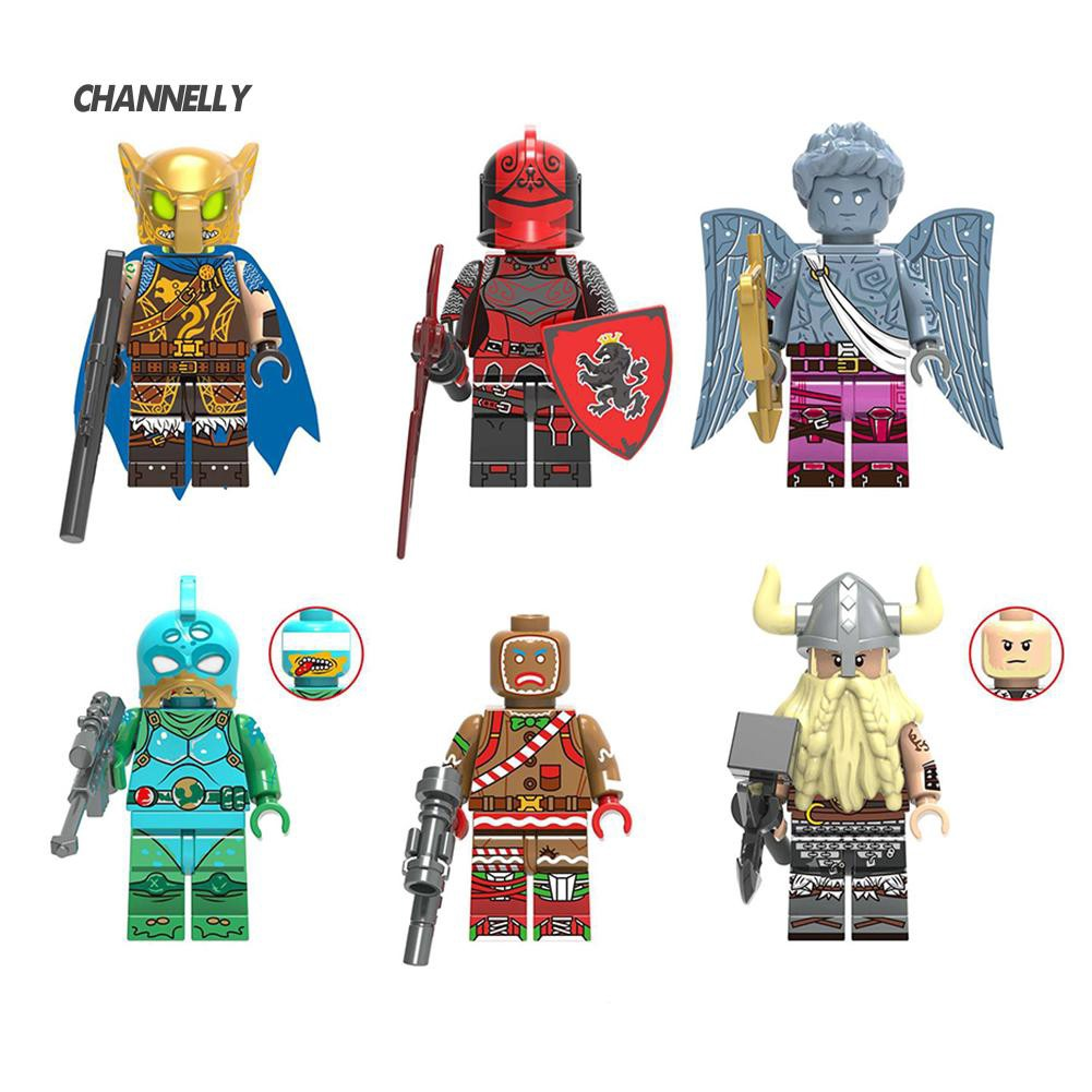 ■Cy DIY Assembled Building Blocks Man Superhero Children Toy Kids Gift For Lego