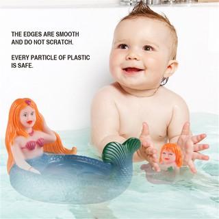 COM Bath Toys Silicone Toy Dolls Dresses 4PCS Sets for Children