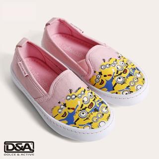 Giày slipon bé gái D&A BG1604 hồng thumbnail
