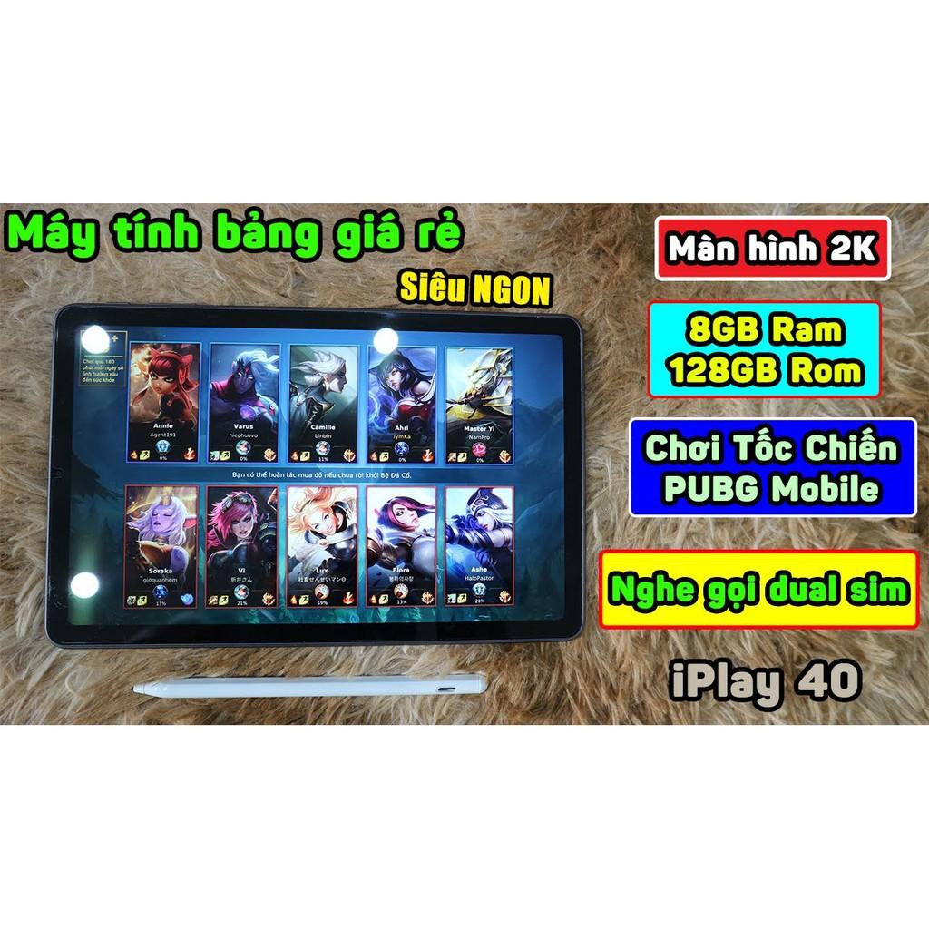 Máy tính bảng Alldocube iPlay 40 10.4inch 2K RAM 8Gb ROM 128Gb 2 sim nghe gọi 4G LTE - Bản Quốc Tế có tiếng Việt CH Play