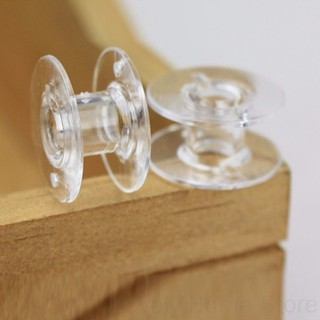 25pcs Plastic Clear Home Sewing Machine Thread String Empty Bobbin Spools doublelift store