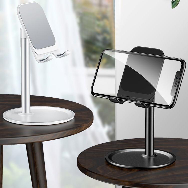 Giá đỡ điện thoại, kẹp điện thoại để bàn chất liệu nhôm cao cấp, điều chỉnh được chiều cao
