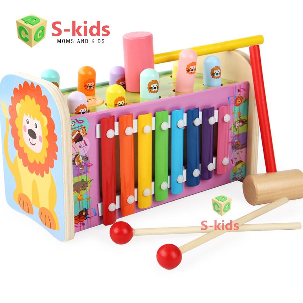 [Mã TOYMALL03 hoàn 10% xu đơn 99k] Đồ chơi gỗ S-Kids, Đập chuột kết hợp đàn Xylophone.