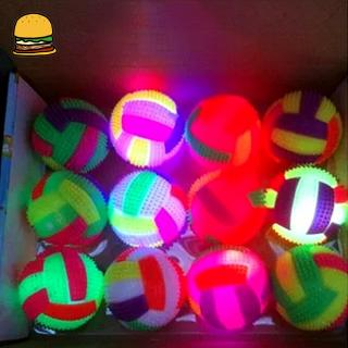 Volleyball Flashing Light Up Color Changing Bouncing Hedgehog Ball for Kids Toys