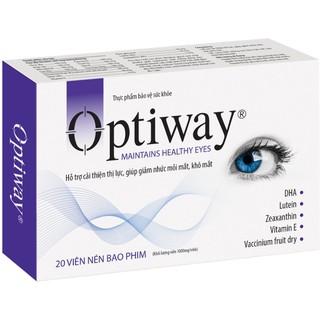 Viên uống OPTIWAY hỗ trợ cải thiện thị lực, giúp giảm nhức mỏi mắt, khô mắt