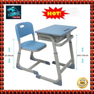 🔥GIÁ RẺ NHẤT🔥Bàn học cho bé, Bộ bàn ghế chống gù Quà tặng cho bé yêu KT 76 x 60 x 40 cm có thể điều chỉnh ( Màu Xanh l