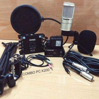 Combo mic thu âm takstar PC-K200 và sound card XOX K10 (tặng tai nghe sony)