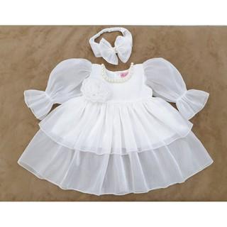 Váy công chúa cho bé gái từ 6-30kg tặng kèm băng đô nơ xinh xắn