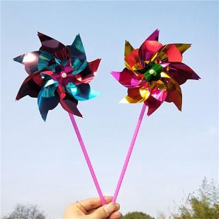 ℜ-ℜ inwheels, Party Pinwheels Windmill Rainbow Pinwheel DIY Pinwheels Set for Kids Toy Garden Lawn Decor, 20 PCS
