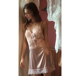Đầm Ngủ Satin ren 100% như hình