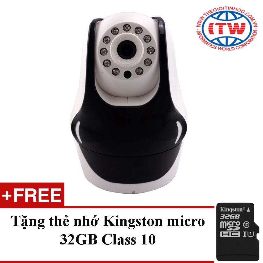 Camera IP quan sát NetCAM IPC-W4A (Trắng) + Tặng 1 thẻ nhớ micro SD 32GB