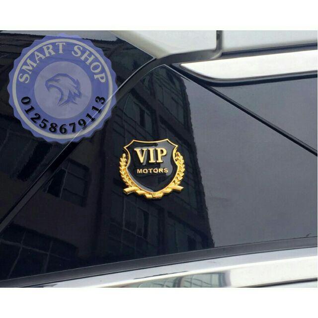 Logo dán xe ô tô, xe máy Logo VIP