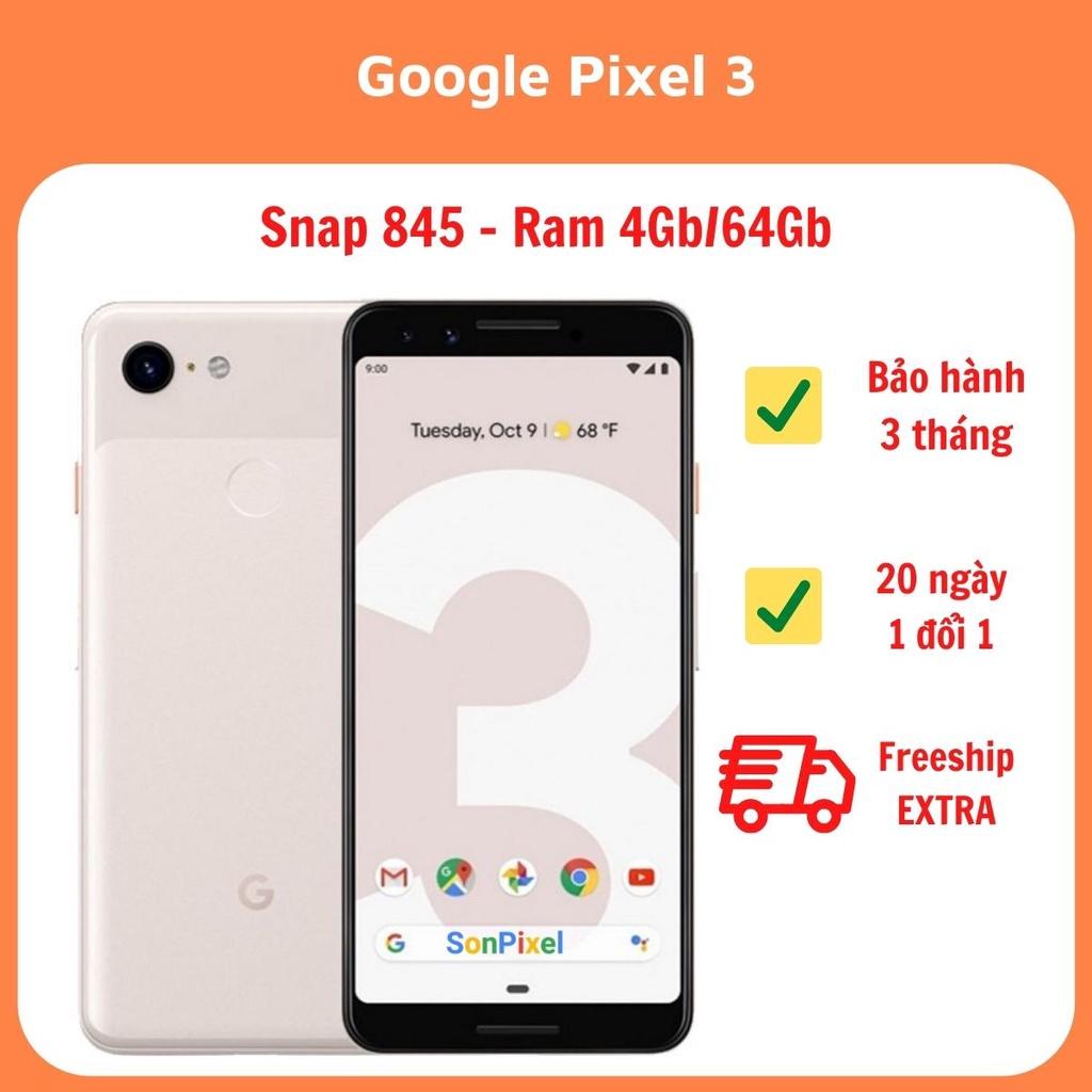 Google Pixel 3/3XL Điện Thoại GG Chip Snapdragon 845 Ram 4G/64GB/128GB. Chơi Game Tốt Quốc Tế, Cũ Giá Rẻ, Sonpixel.