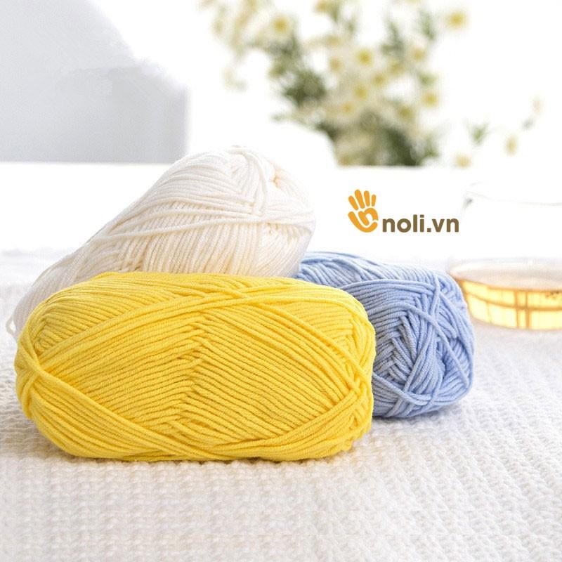 Cuộn Len Milk Cotton Loại 1 (Mã 21 đến 40)