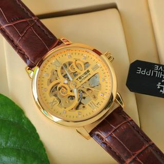 Đồng hồ nam cơ dây da cao cấp Tevise T869A-3 full box, mặt kính sapphire chống xước, chống nước, bảo hành 03 năm thumbnail