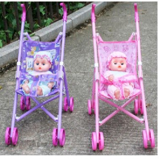 Bộ đồ chơi xe đẩy búp bê cho bé