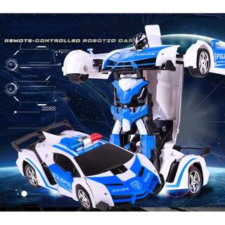 Đồ chơi xe điều khiển – Xe Robot biến hình cao cấp