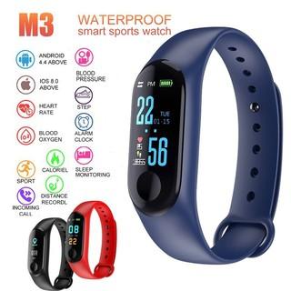 Đồng hồ thông minh thể thao M3 Bluetooth màn hình màu không thấm nước đo nhịp tim theo dõi bài tập thể dục đếm bước
