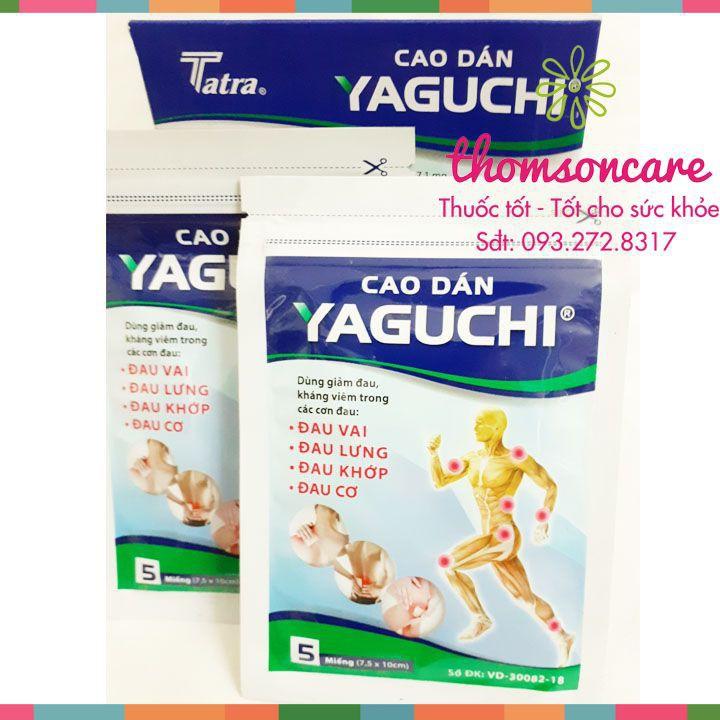 Cao dán Yuguchi giảm đau nhức cơ xương khớp - Chăm sóc chấn thương