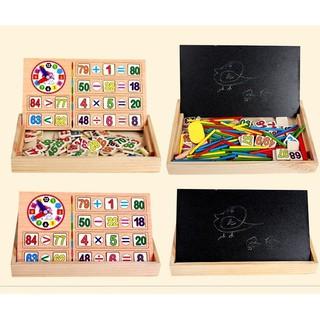 Bảng gỗ 2 mặt giúp bé học toán cho bé – HD