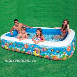 bể bơi chữ nhật 3 tầng 1m8