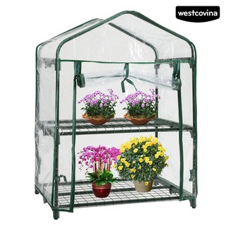 WEST Mini Greenhouse Plastic Clear Cover Flower Bonsai Plant Grow Tent