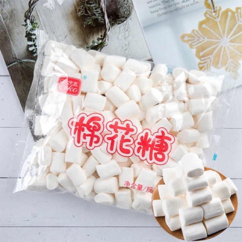 500gr kẹo marshmallow làm kẹo nougat